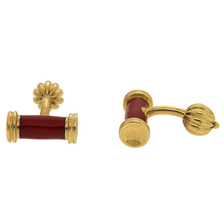 Red Enamel Bar Cufflinks