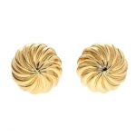 Fluted Textured Gold Cufflinks