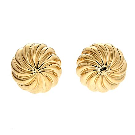 Fluted Textured Gold Cufflinks