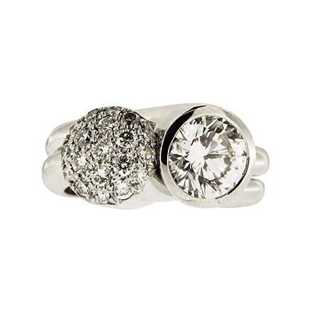 Diamond & Cluster Diamond Ring