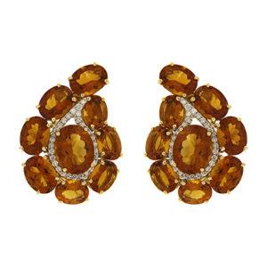 Paisley Madeira Citrine Earrings