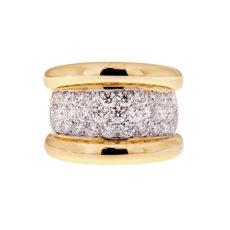 Gold Pave Diamond Ring